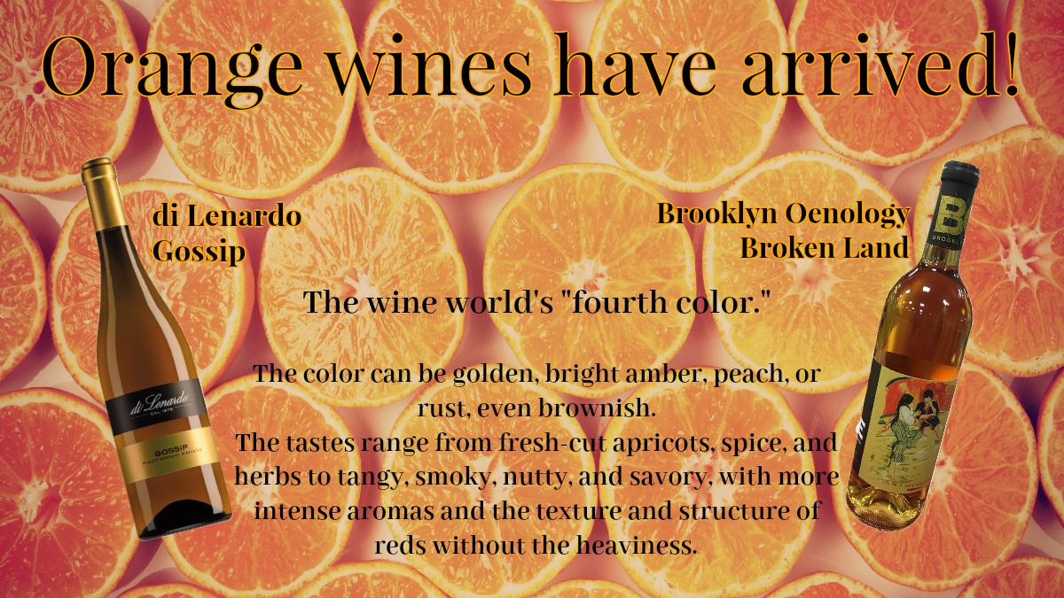Orange wines panel